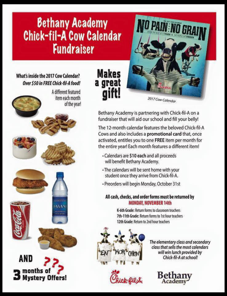 Chick-fil-A Fundraiser - Bethany Academy